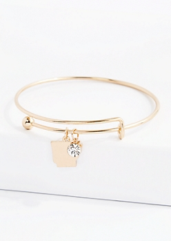 Arkansas Stone Charm Bangle