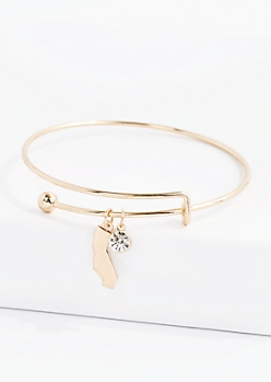 California Stone Charm Bangle