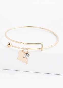 Louisiana Stone Charm Bangle