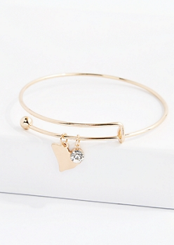 South Carolina Stone Charm Bangle