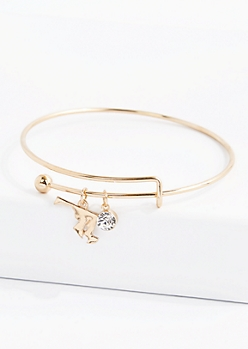 Maryland Stone Charm Bangle