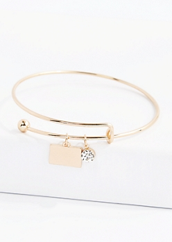 Colorado Stone Charm Bangle