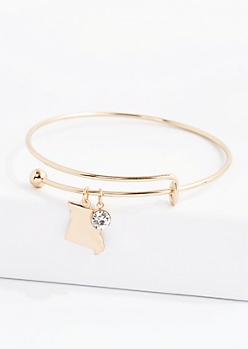 Missouri Stone Charm Bangle