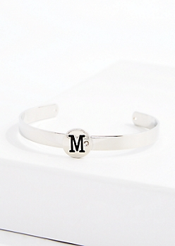Stone M Cuff Bracelet