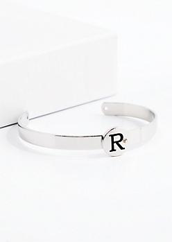 Stone R Cuff Bracelet