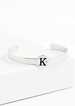 Stone K Cuff Bracelet
