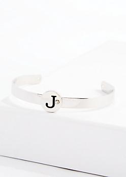 Stone J Cuff Bracelet