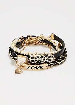 Peace & Love Bracelet Set