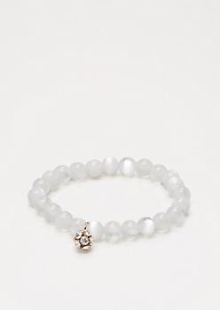 Fireball Milky Stone Beaded Bracelet