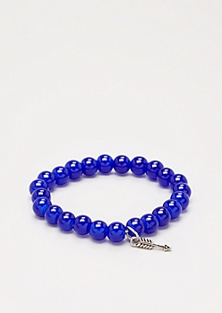 Arrow Cobalt Stone Beaded Bracelet