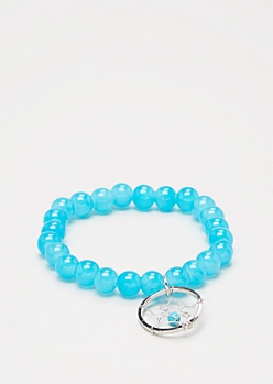Dreamcatcher Turquoise Stone Beaded Bracelet