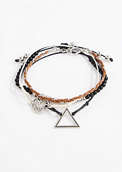 4-Pack Fire Sign Friendship Bracelets