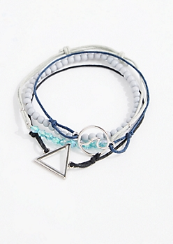 4-Pack Water Sign Friendship Bracelets