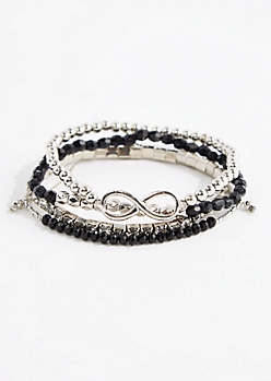 4-Pack Infinity Beaded Friendship Bracelets