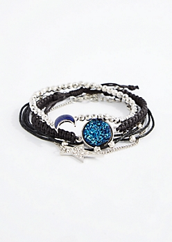 Shooting Star Mood Stone Bracelet Set