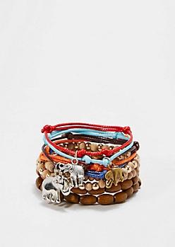 Elephant Oasis Beaded Bracelet Set