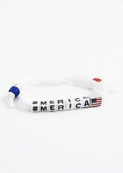 Americana Friendship Bracelet