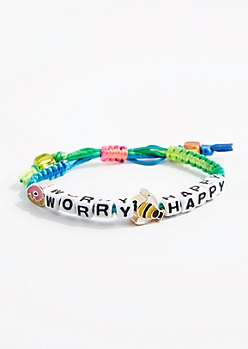 Donut Worry Bee Happy Friendship Bracelet