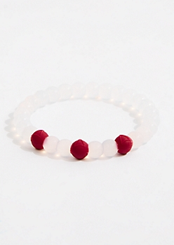 Fire Sign Silicone Bead Bracelet