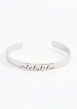Faith Morse Code Cuff