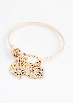 Free Your Mind Hammered Bracelet