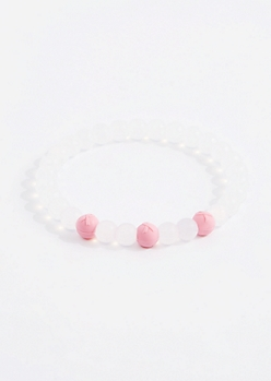 Pink Ribbon Jade Elements Bracelet