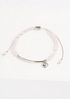 Rose Quartz Beaded Balance Bracelet