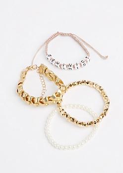 4-Pack Feminist Bracelet Set