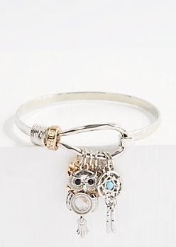 Dreamcatcher Charm Hooked Bangle Bracelet