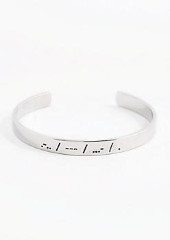 Love Morse Code Cuff