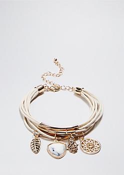 Ivory Charm Cluster Bracelet