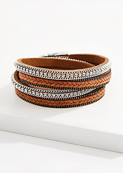 Stone Braided Wrap Bracelet
