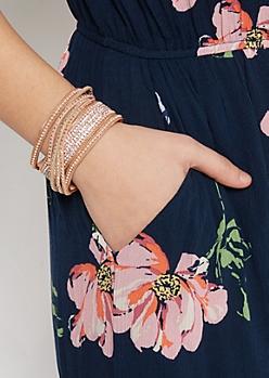 Pink Stone Wrap Bracelet