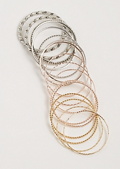 16-Pack Twisted & Wrapped Bangle Set