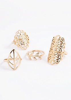 Filigree Medallion Ring Set