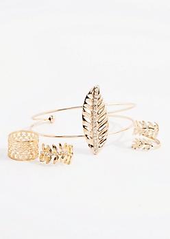 Falling Leaf Cuff & Ring Set