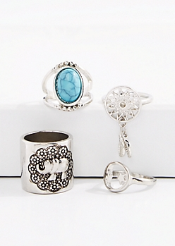 Dreamcatcher & Elephant Ring Set