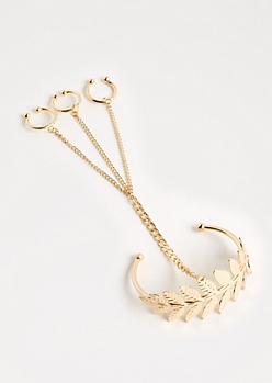 Laurel Leaf Hand Chain