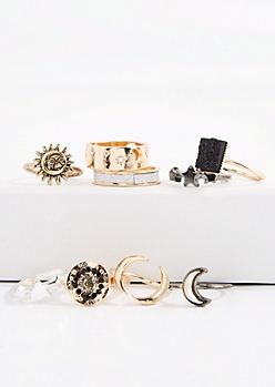 Celestial Mixed Midi Ring Set