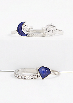 5-Piece Sun & Moon Mood Ring Set
