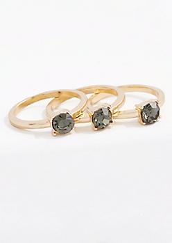 December Stone Ring Set