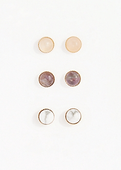 Healing Stone Earring Set