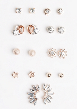 9-Pack Starburst Crawler Earring Set