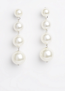 Pearly Quad Drop Earring