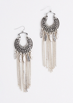 Crescent Embossed Earring