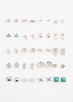 20-Pack Zen Stud Earring Set