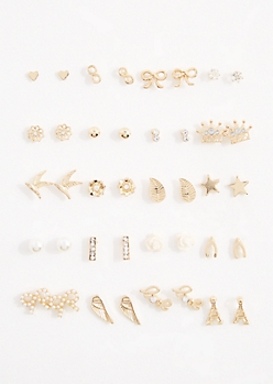 20-Pack Holy Chic Stud Earring Set
