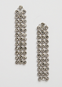 Stone Row Drop Earring