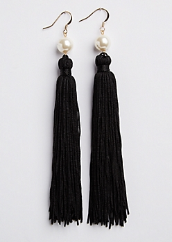 Pearl Tassel Drop Earring
