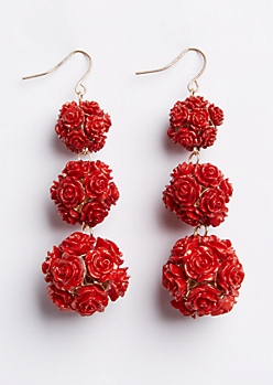 Cake Rose Drop Earring